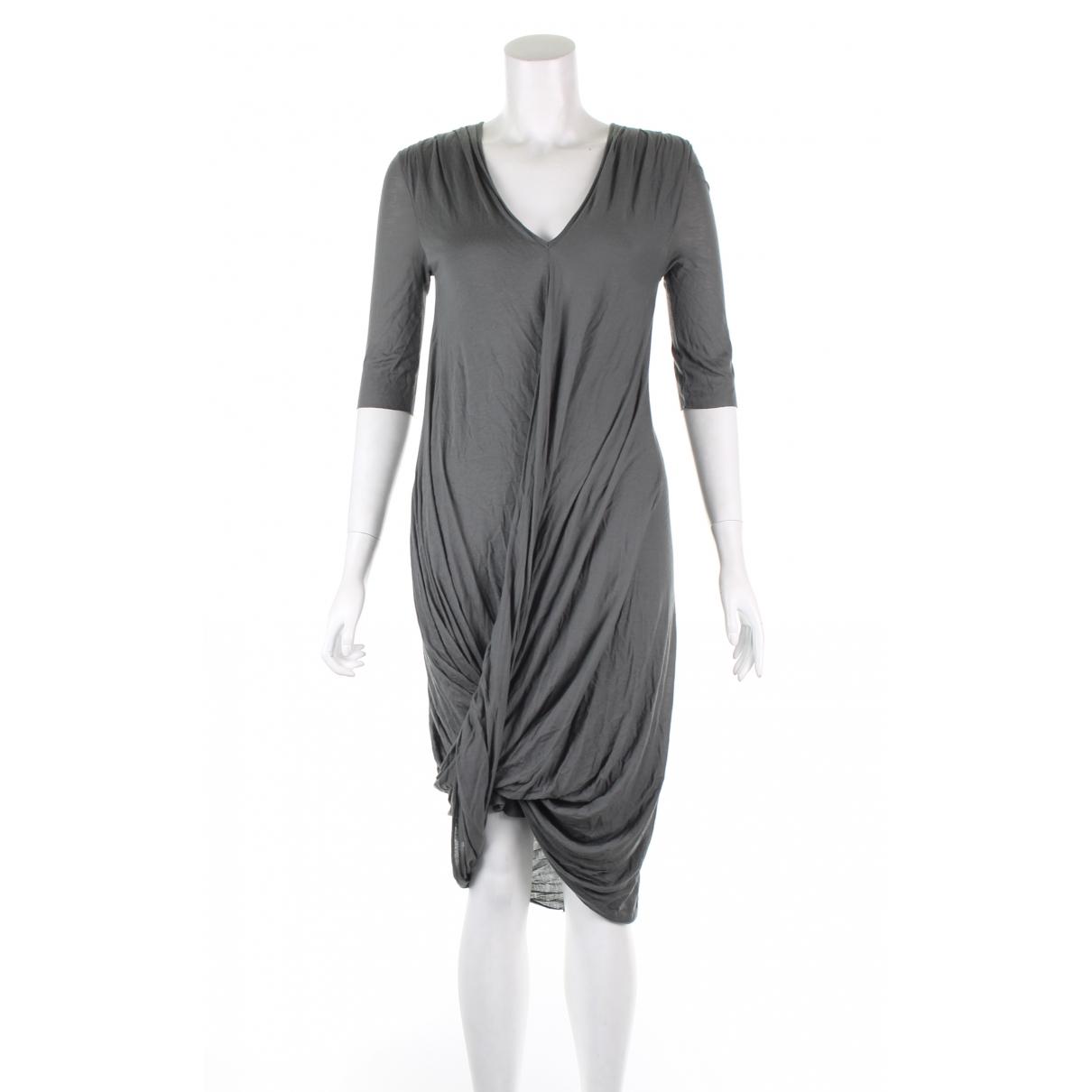 Helmut Lang - Robe   pour femme en cuir - kaki