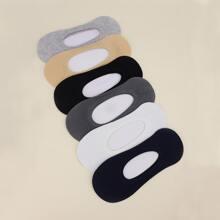 6 Paare Einfarbige Socken mit niedrigem Schnitt