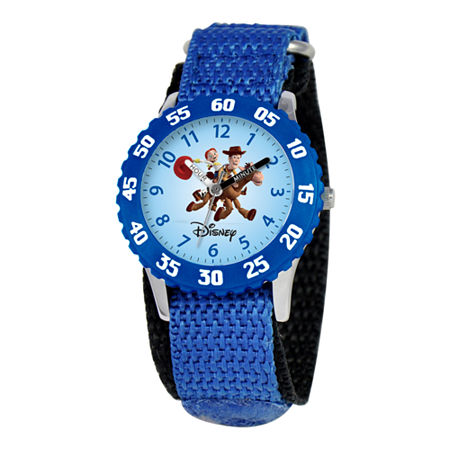 Disney Kids Woody and Jessie Easy-Read Fast Strap Watch, One Size , No Color Family