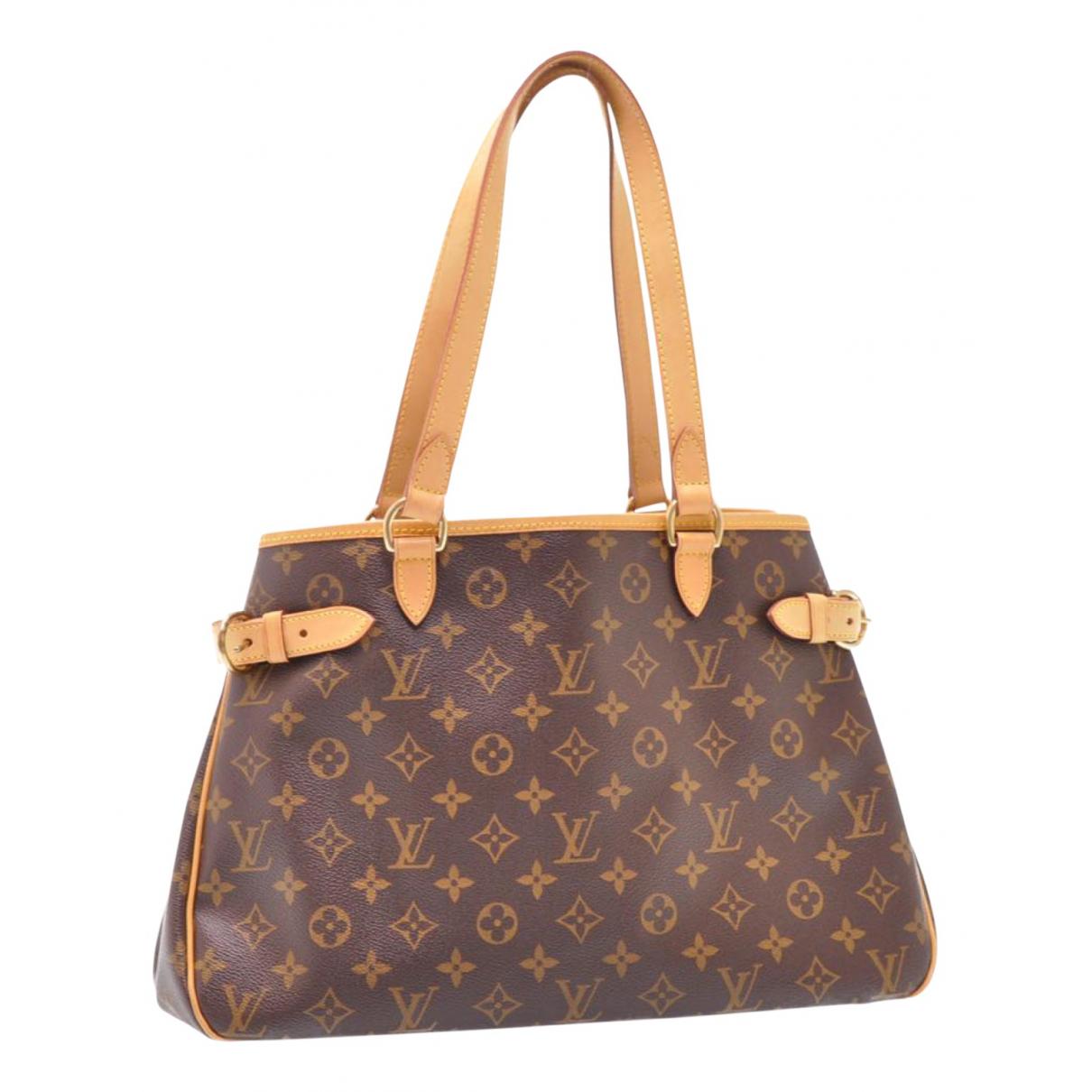 Louis Vuitton Batignolles Handtasche in  Braun Leinen