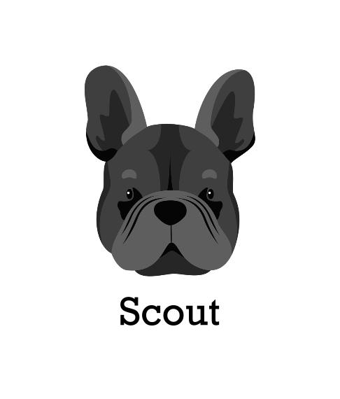 Pet Framed Canvas Print, Chocolate, 8x10, Home Décor -French Bulldog