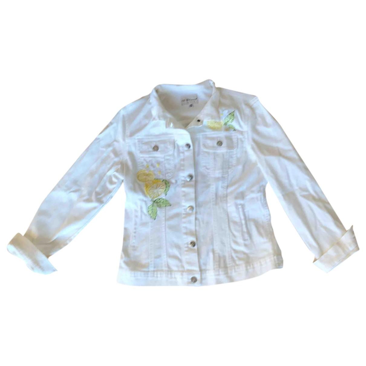 Blumarine - Veste   pour femme en coton - blanc