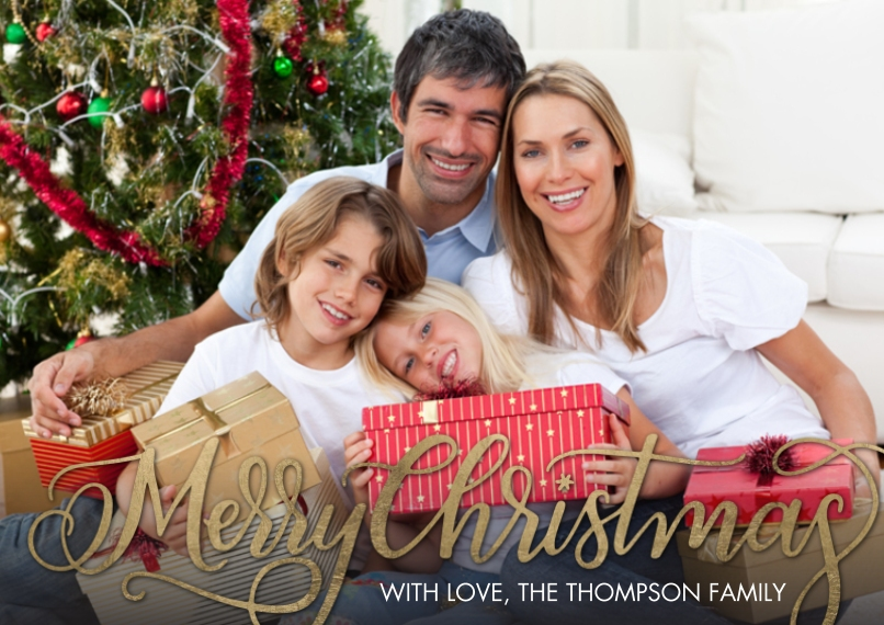 Christmas Photo Cards 5x7 Cards, Standard Cardstock 85lb, Card & Stationery -Christmas Fancy Script