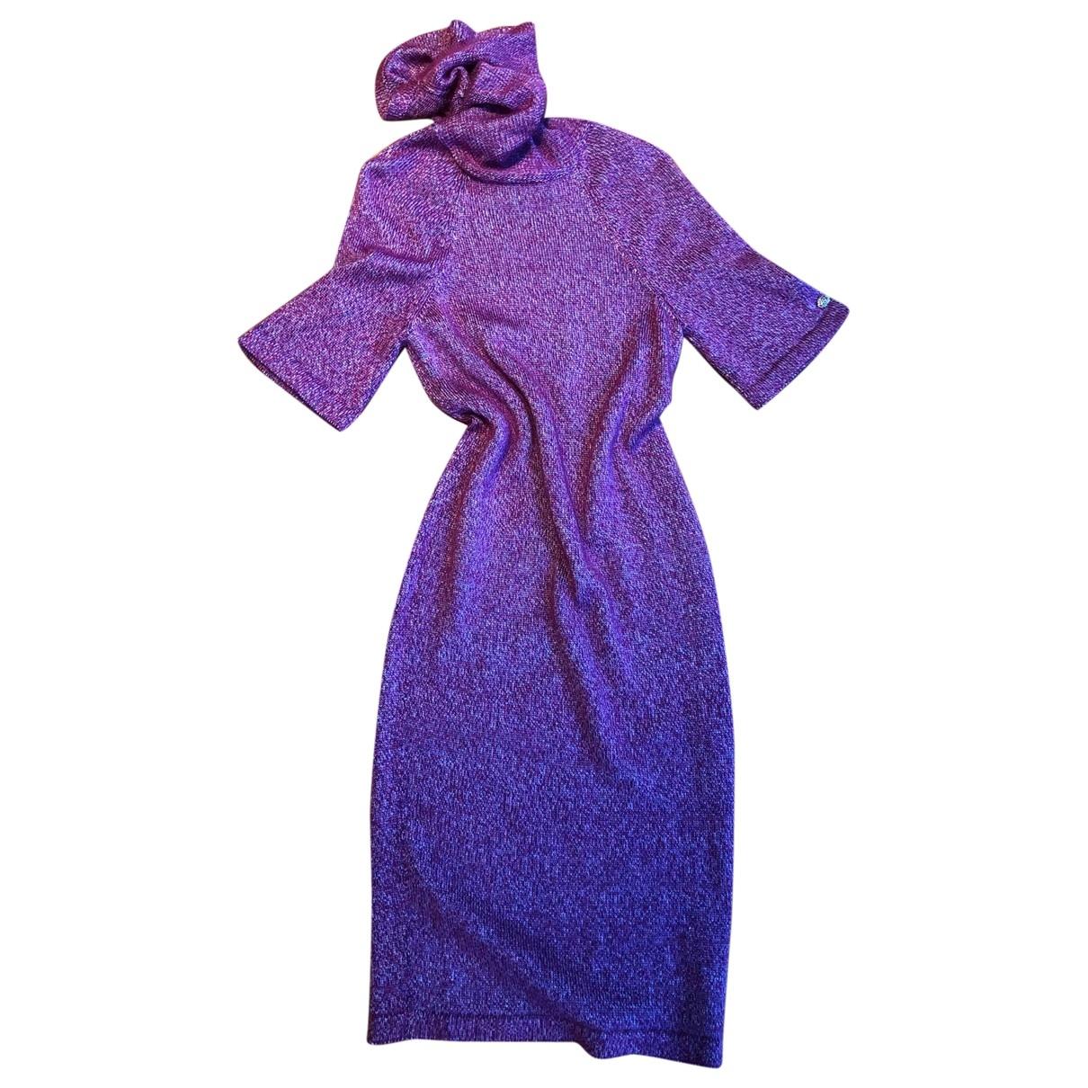 Chanel - Robe   pour femme en soie - multicolore