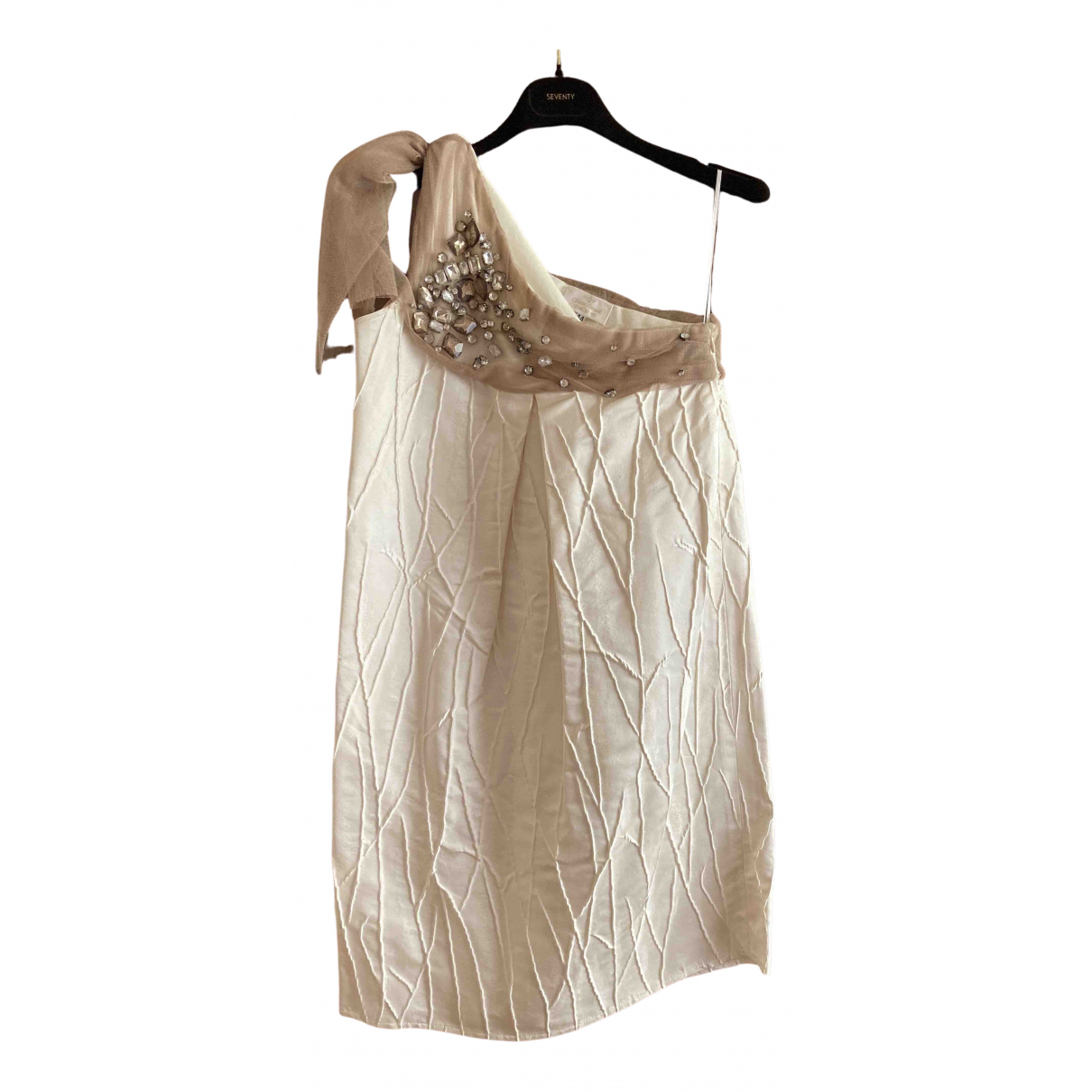 Chicca Lualdi Beequeen \N Kleid in  Weiss Seide