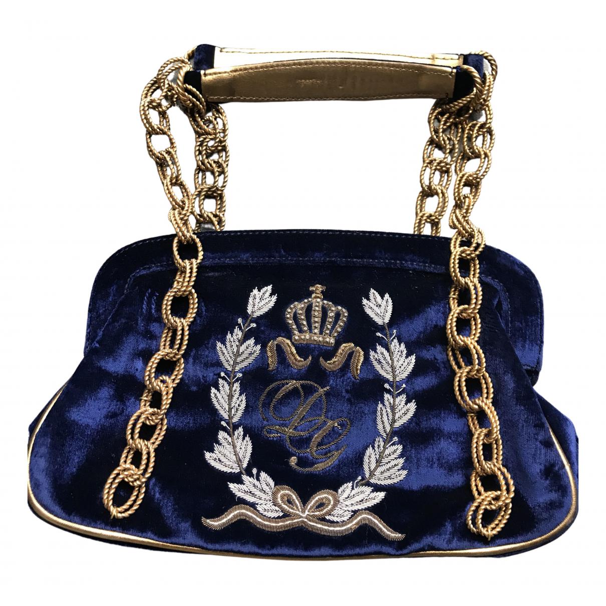 Dolce & Gabbana \N Handtasche in  Marine Samt