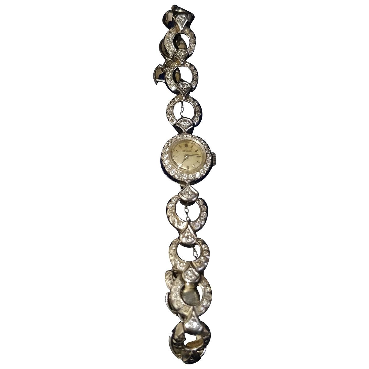 Movado - Montre   pour femme en platine - gris