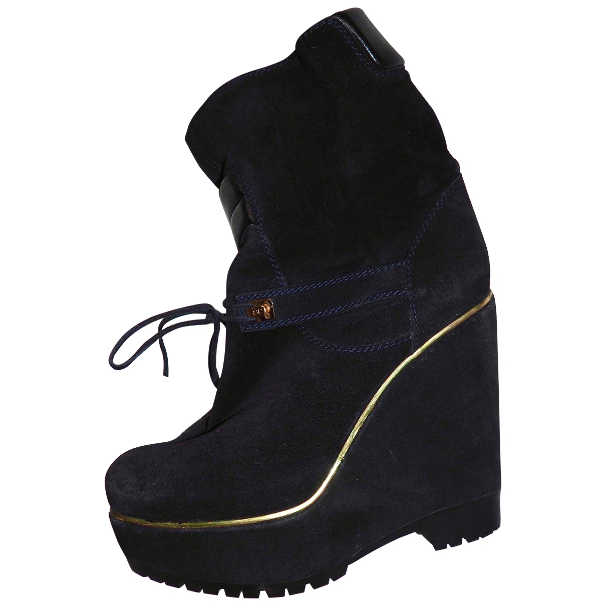 Sergio Rossi \N Black Suede Ankle boots for Women 36 EU