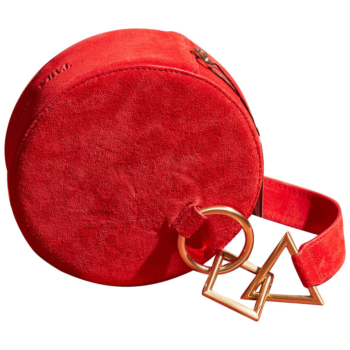 Tara Zadeh - Pochette   pour femme en suede - rouge