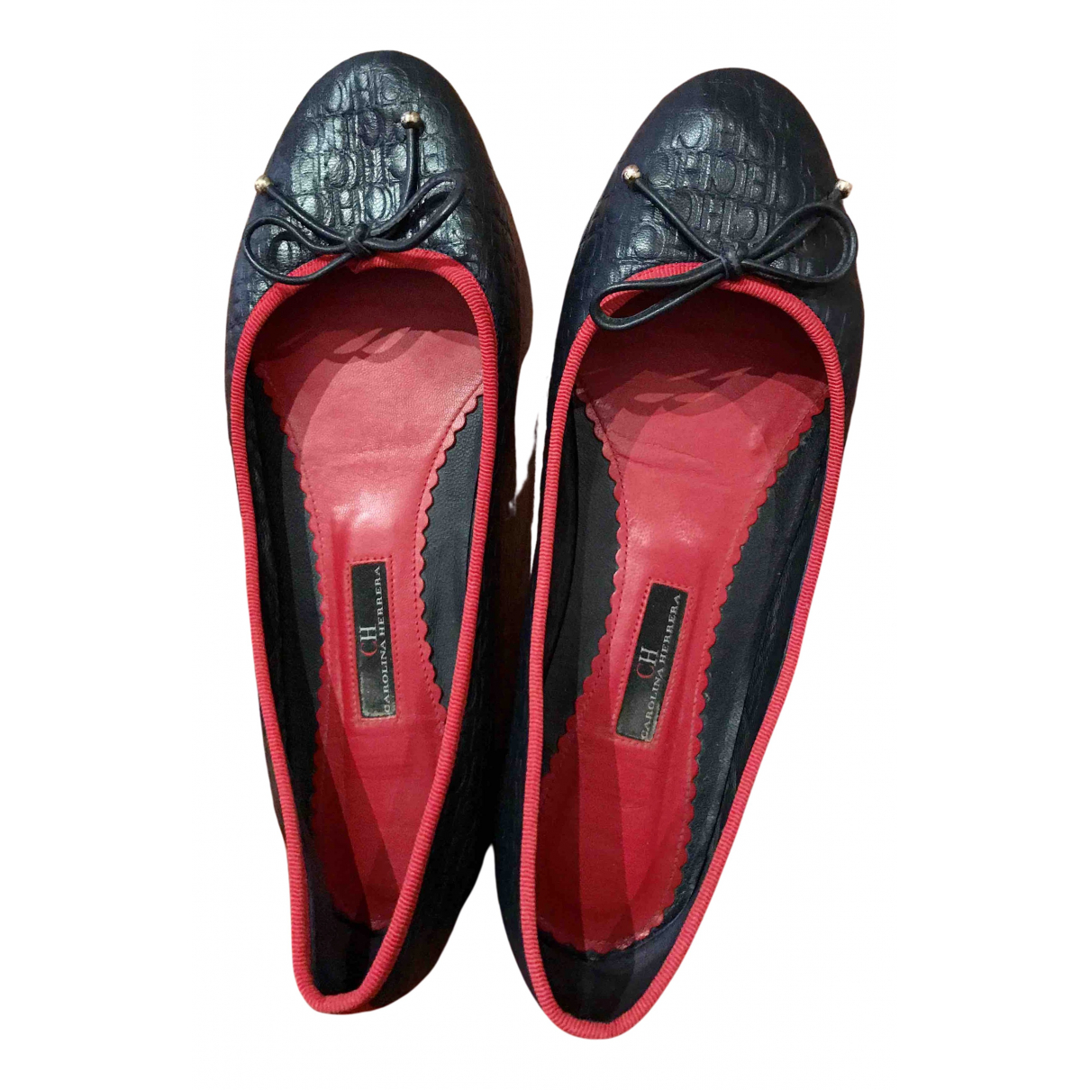 Carolina Herrera \N Ballerinas in  Blau Leder