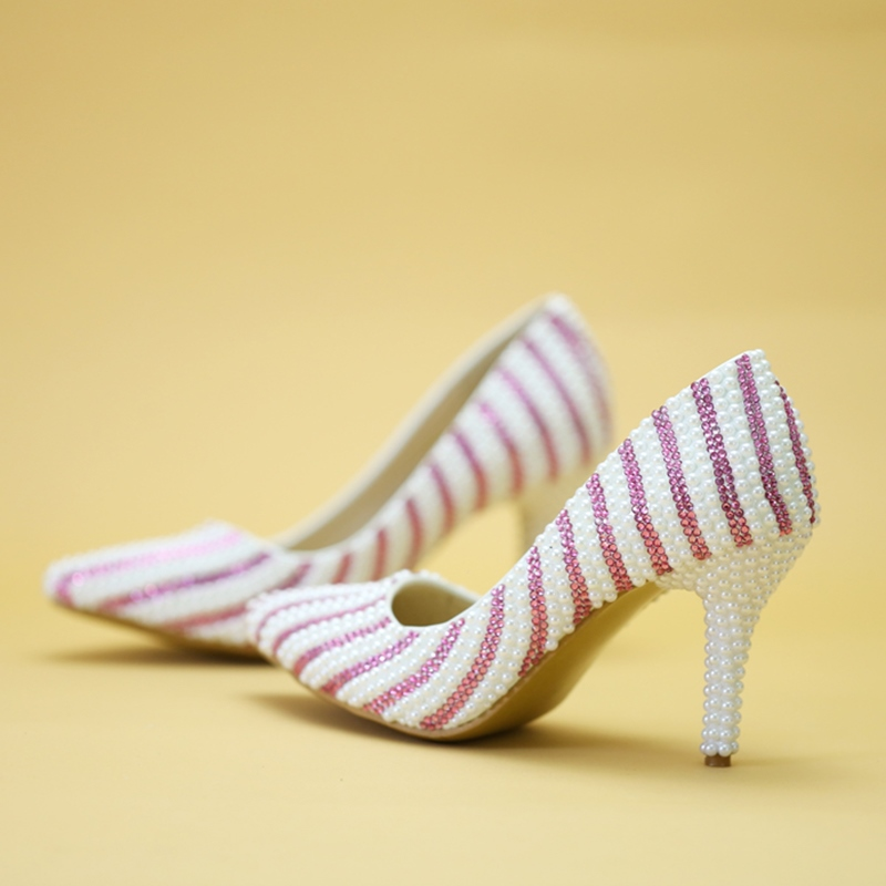 Ericdress Slip-On Pointed Toe Stiletto Heel Wedding Shoes