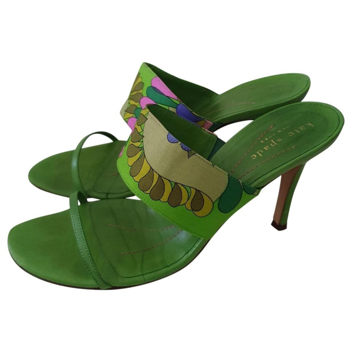 Kate Spade - Escarpins   pour femme en cuir - vert