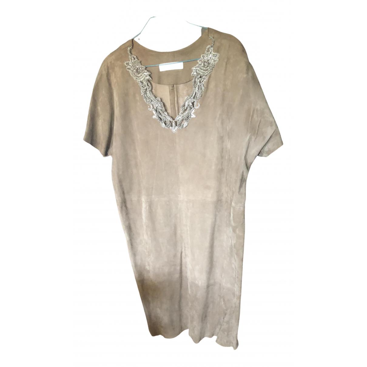 Uterque \N Kleid in  Braun Veloursleder