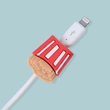 1 pieza protector de cable de dato de papas fritas