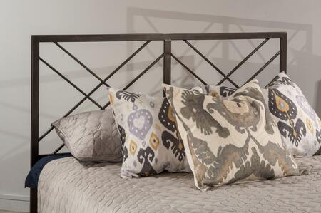 Westlake Collection 2166HTWR Twin Size Headboard with Rails  Open-Frame Panel Design and Sturdy Metal Construction in Magnesium
