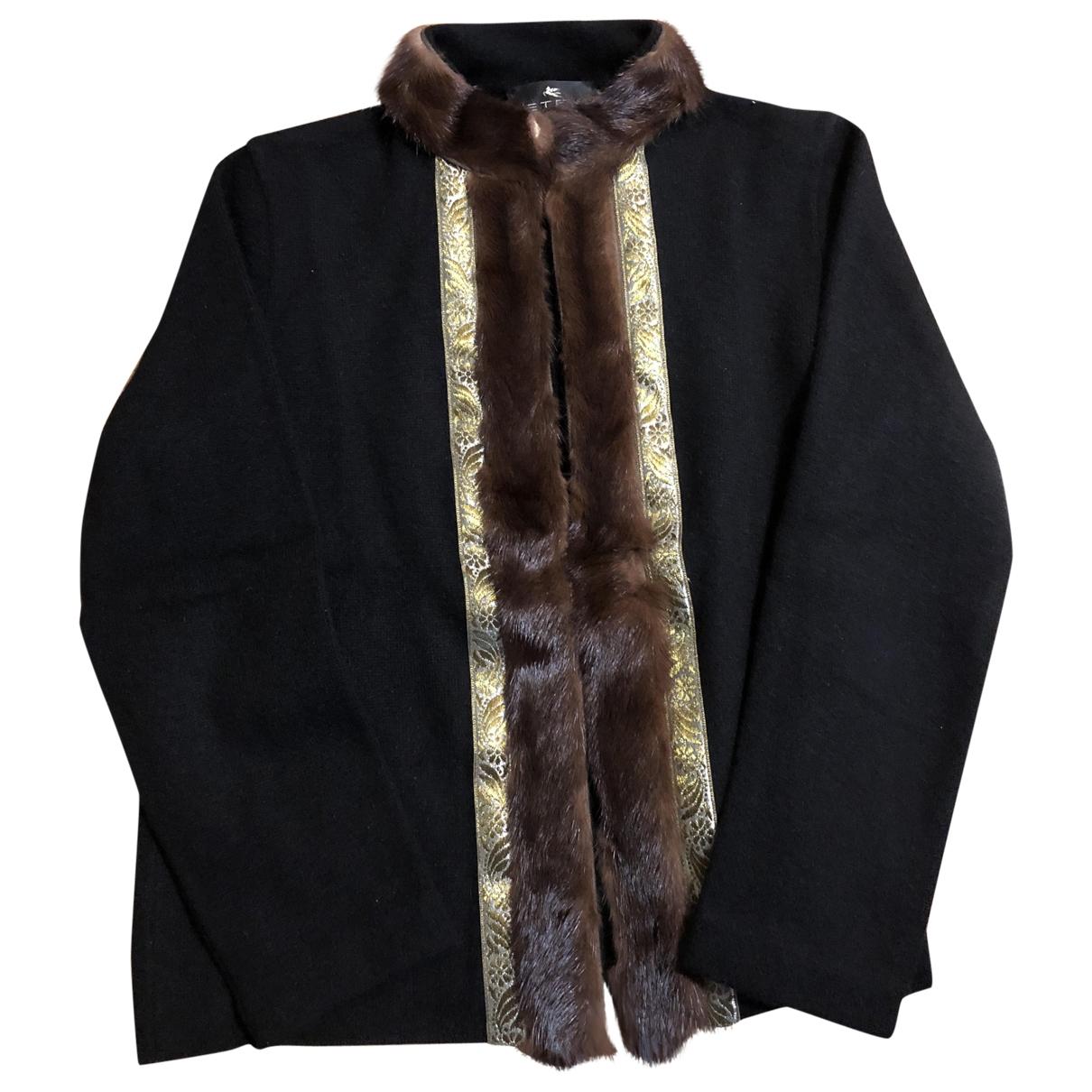 Etro \N Black Wool jacket for Women 46 IT