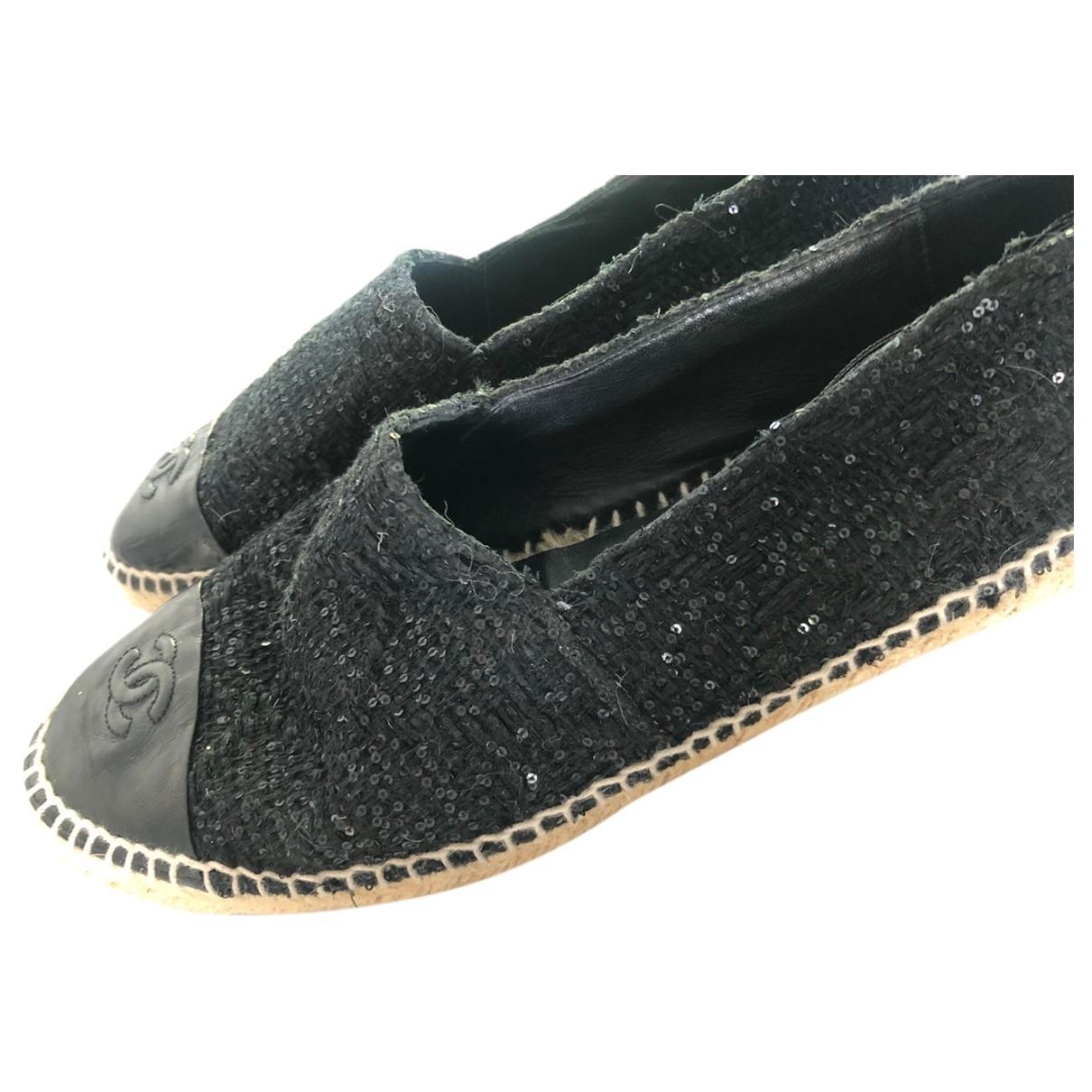 Chanel \N Black Cloth Espadrilles for Women 41 EU