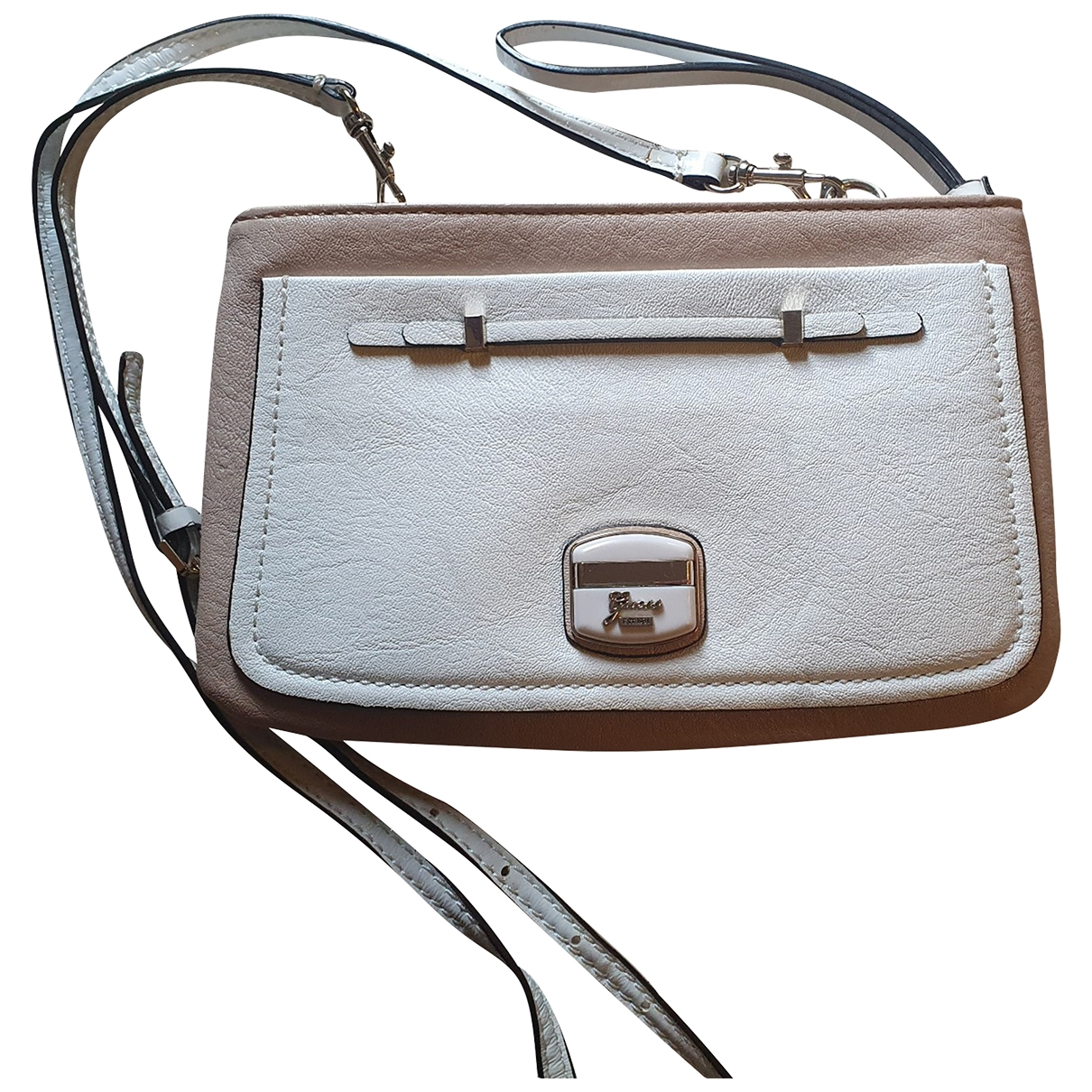 Guess \N Clutch in  Weiss Polyester