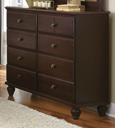 Carolina Craftsman Collection 525800 30 Dresser with 8 Drawers  Molding Details and Turned Bun Feet in