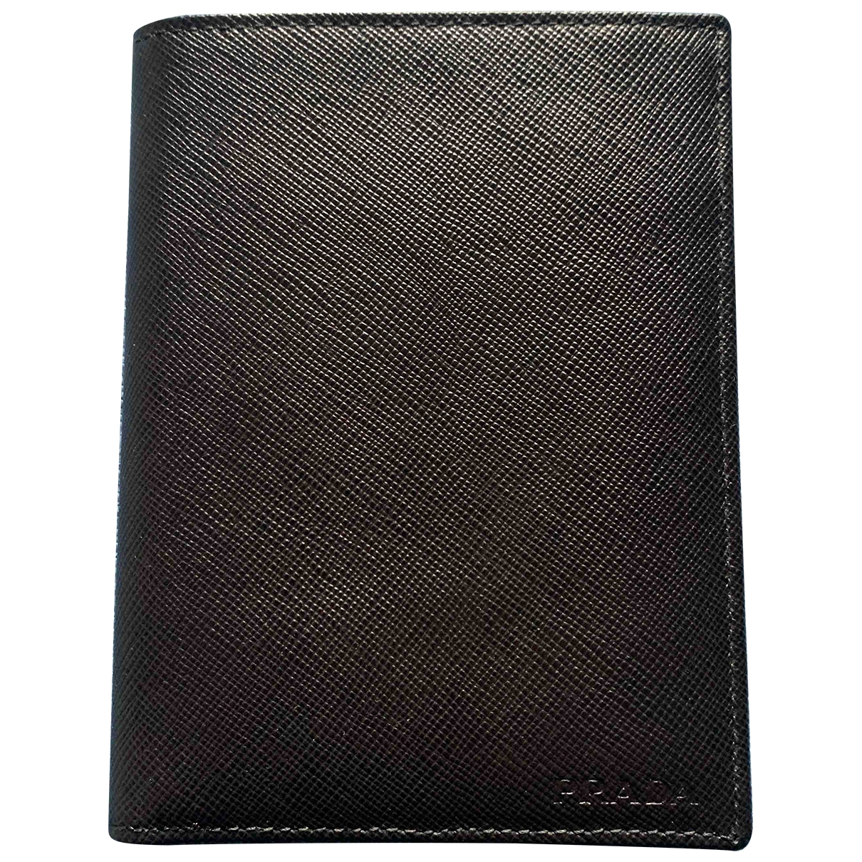 Prada \N Kleinlederwaren in  Schwarz Leder