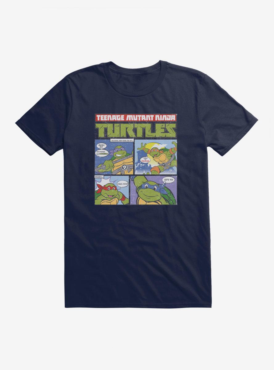 Teenage Mutant Ninja Turtles Comic Strip Group Catchphrases T-Shirt