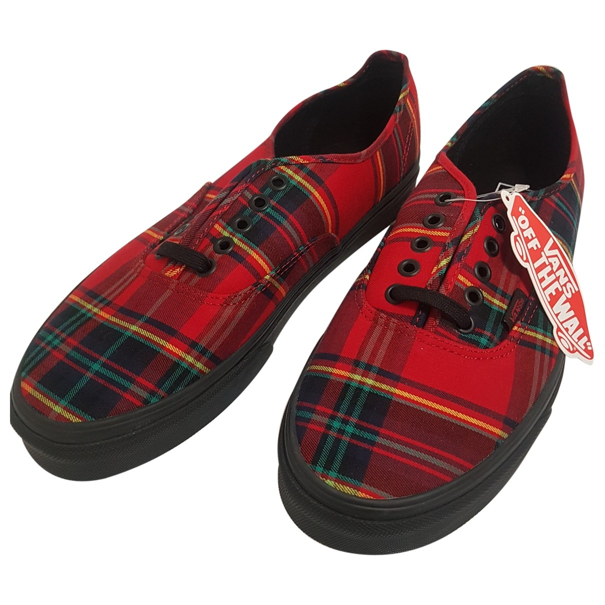 Vans \N Red Cloth Trainers for Women 42 EU