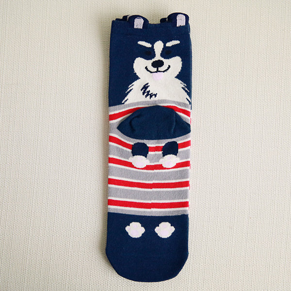 Women Cute Cartoon Middle Tube Socks Breathable Soft Good Elastic Multi-Color Sport Socks