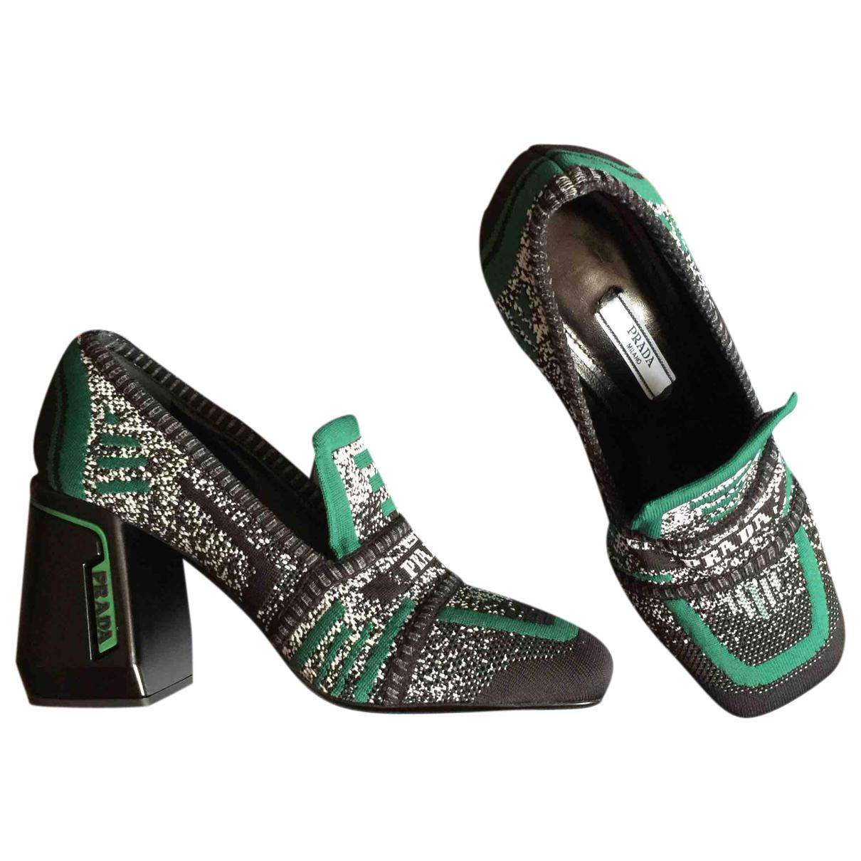 Prada N Multicolour Leather Heels for Women 37 EU