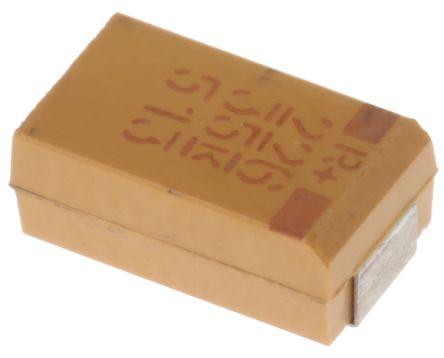 KEMET Tantalum Capacitor 22μF 35V dc MnO2 Solid ±10% Tolerance , T495 (5)
