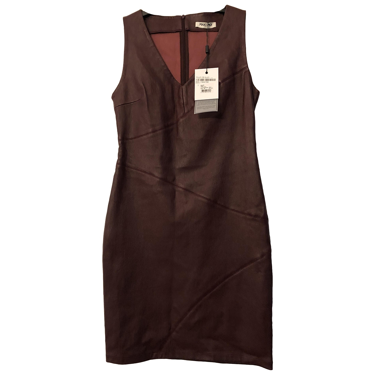 Max & Moi \N Burgundy Leather dress for Women 40 FR