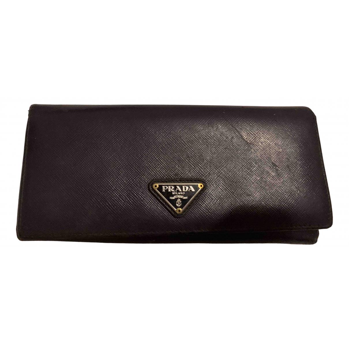 Prada - Portefeuille   pour femme en cuir - violet