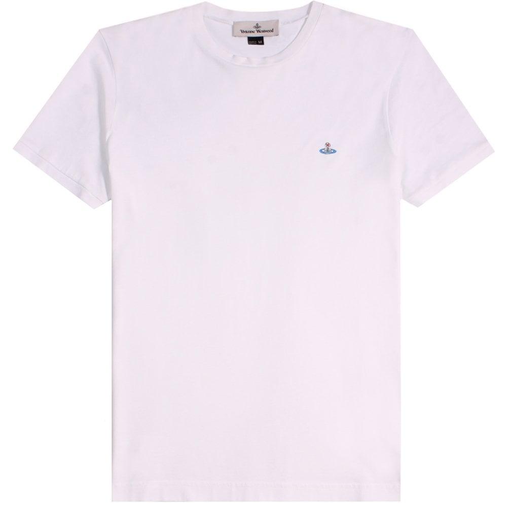 Vivienne Westwood Classic Orb Logo T-Shirt Colour: WHITE, Size: EXTRA EXTRA LARGE