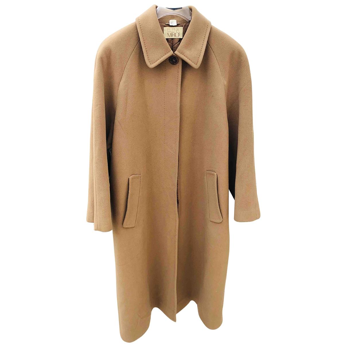 Elena Miro - Manteau   pour femme en laine - beige