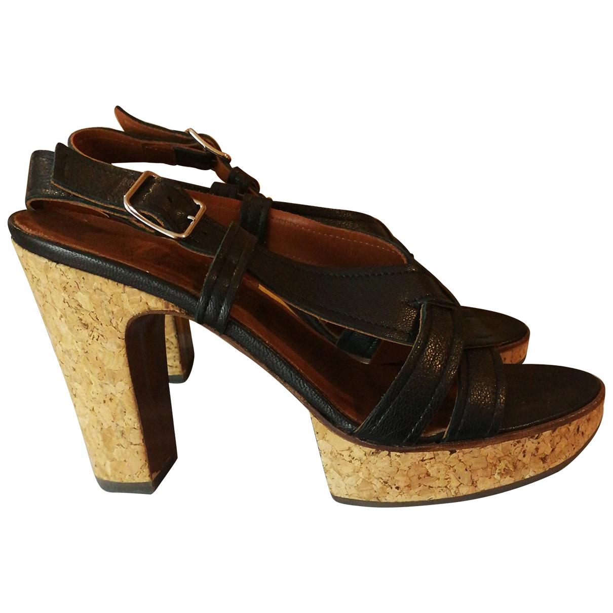 Lanvin \N Black Leather Sandals for Women 40 EU