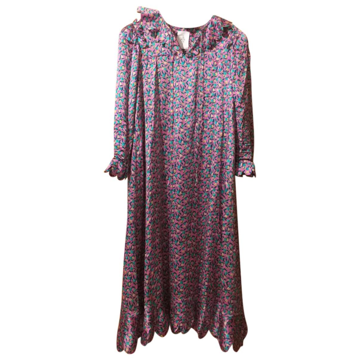 Horror Vacui N Multicolour Silk dress for Women M International