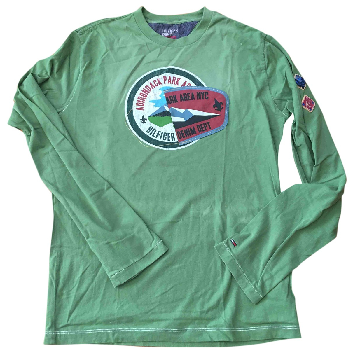 Tommy Hilfiger N Green Cotton T-shirts for Men M International