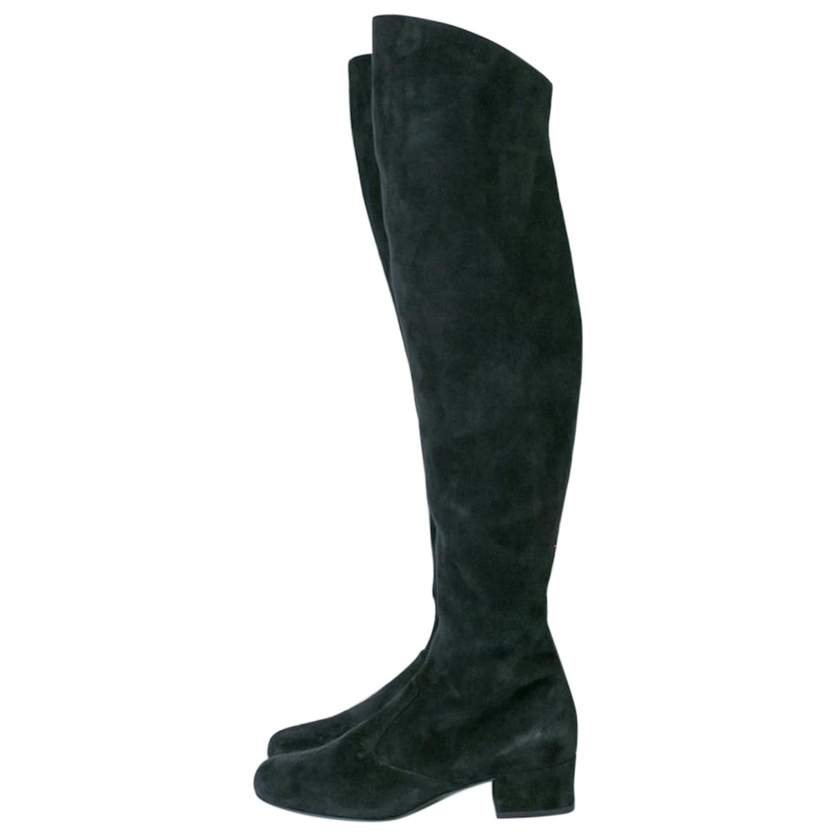 Saint Laurent \N Stiefel in  Schwarz Veloursleder