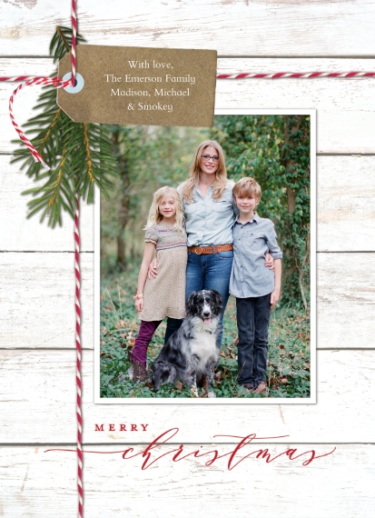 Christmas Photo Cards Mail-for-Me 7x10 Seal & Send Cards, Card & Stationery -Christmas Memories Gift Tag by Tumbalina
