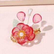 Haarklammer mit Blumen Dekor