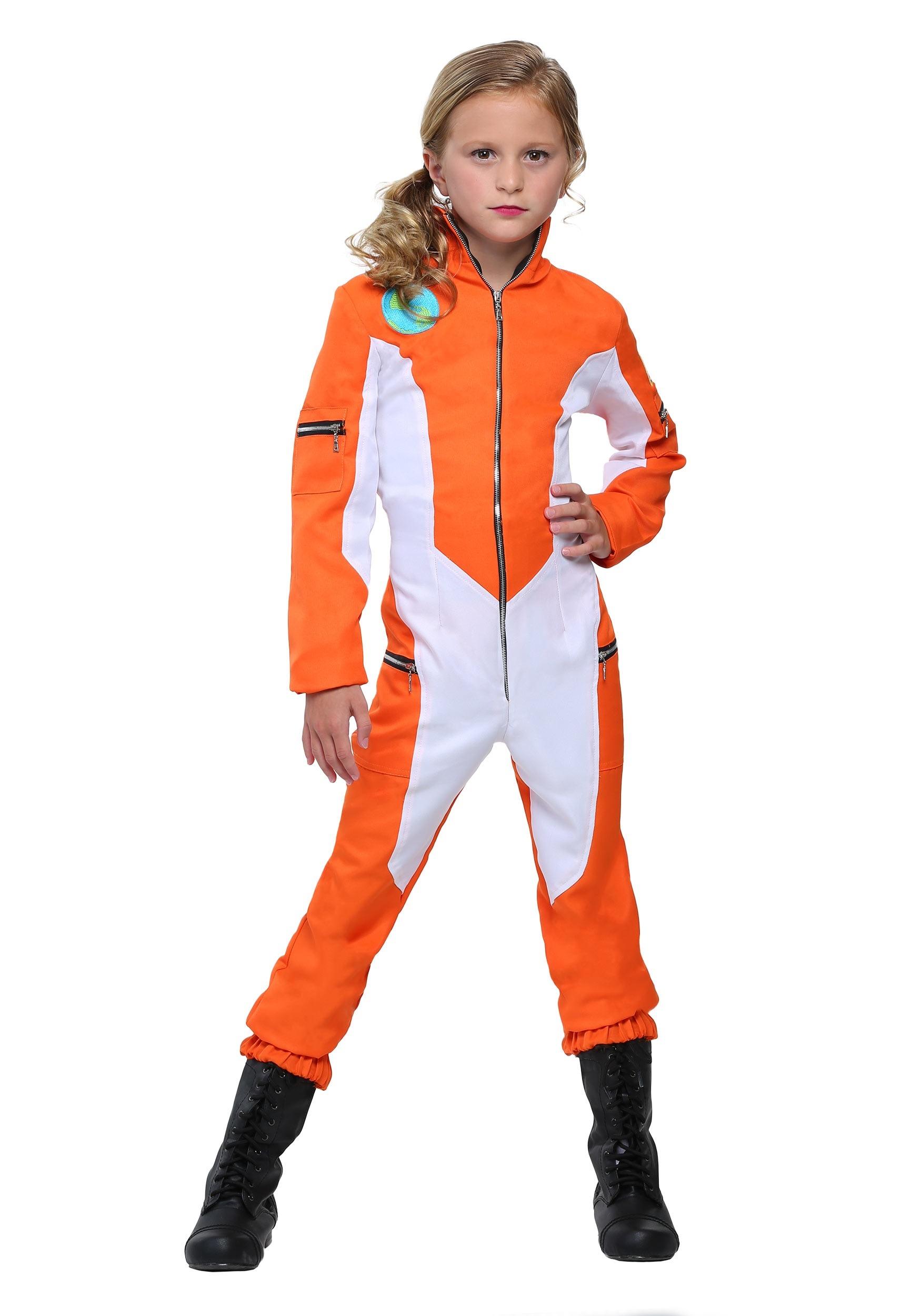 Girls Astronaut Jumpsuit Costume