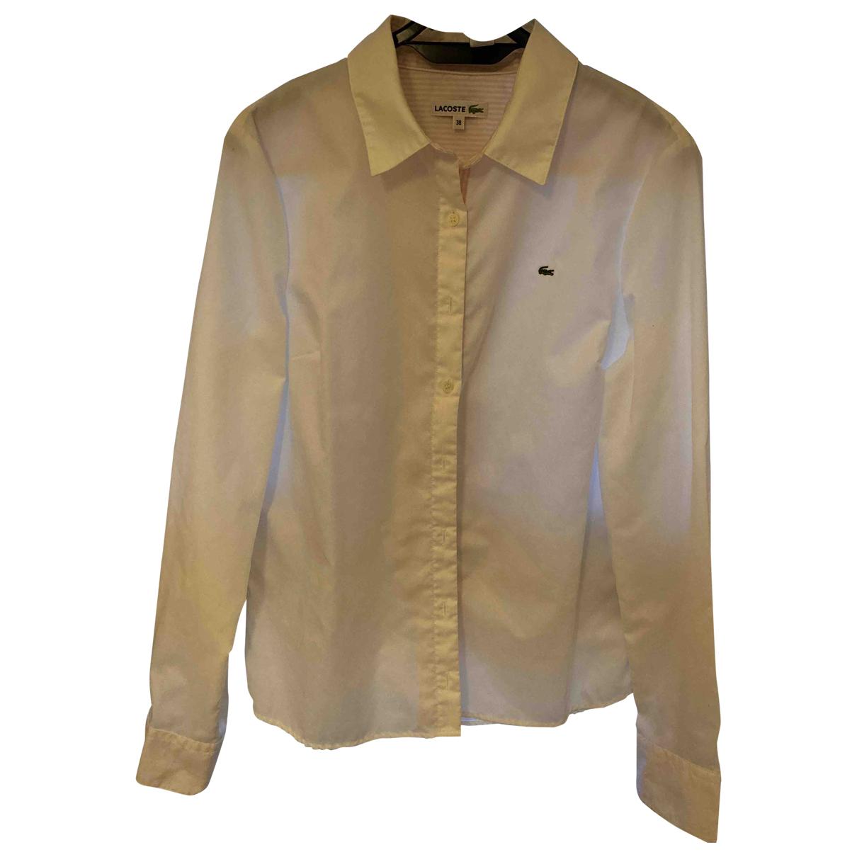 Lacoste - Top   pour femme en coton - blanc