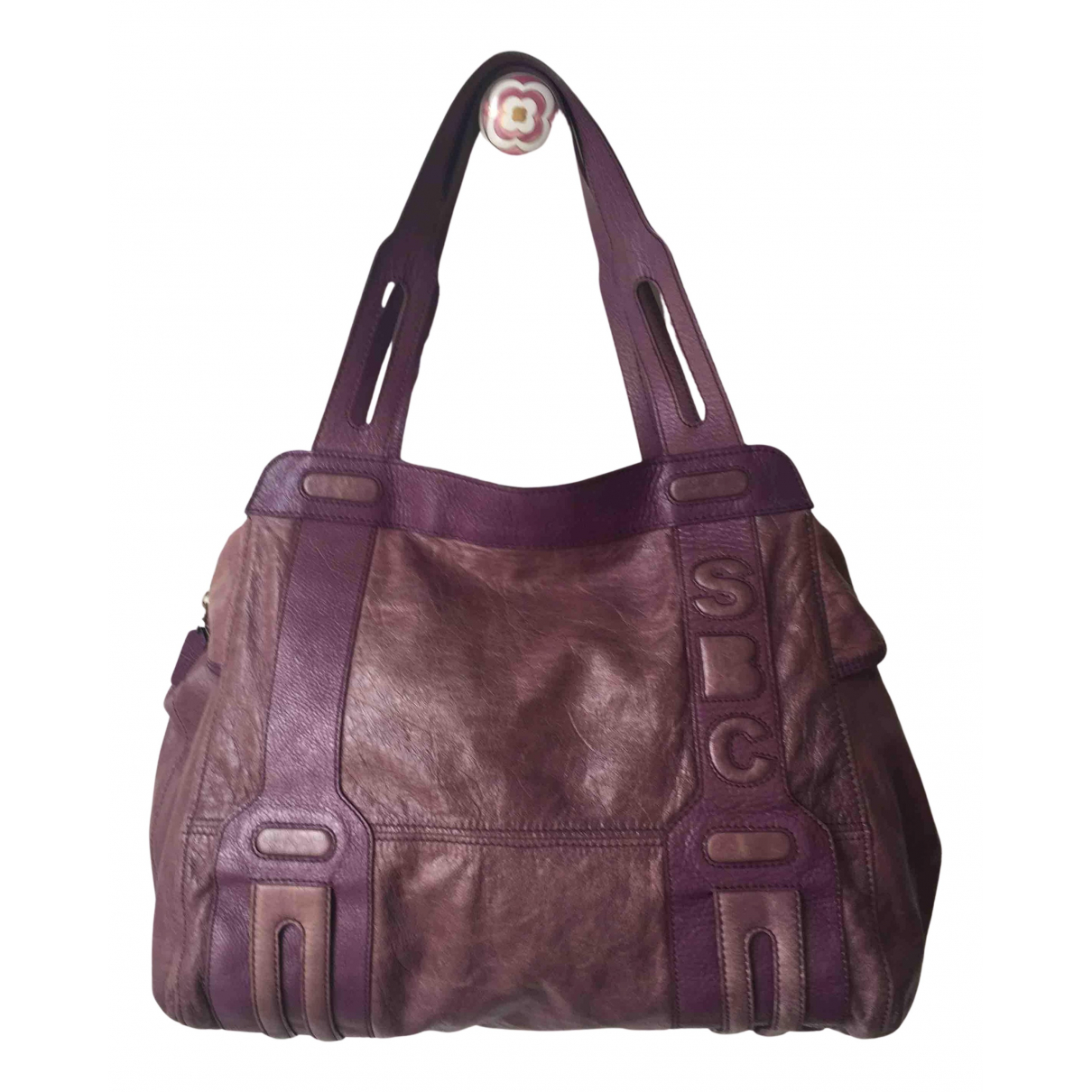 See By Chloe - Sac a main   pour femme en cuir - violet