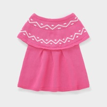 Toddler Girls Chevron Pattern Knit Dress