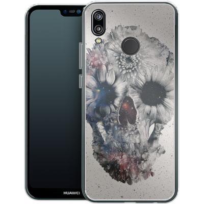 Huawei P20 Lite Silikon Handyhuelle - Floral Skull 2 von Ali Gulec