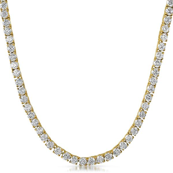 VVS Tennis Chain Yellow Gold