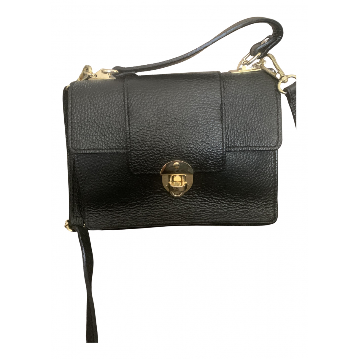Non Signé / Unsigned \N Black Leather Clutch bag for Women \N