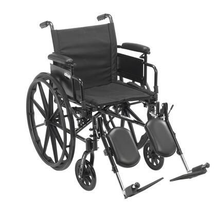 cx420adda-elr Cruiser X4 Lightweight Dual Axle Wheelchair With Adjustable Detachable Arms  Desk Arms  Elevating Leg Rests  20
