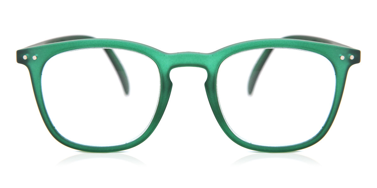 IZIPIZI E LetmeSee Green Crystal Soft LMSEC14 Men's Glasses Clear Size +1.00 - Free Lenses - HSA/FSA Insurance - Blue Light Block Available