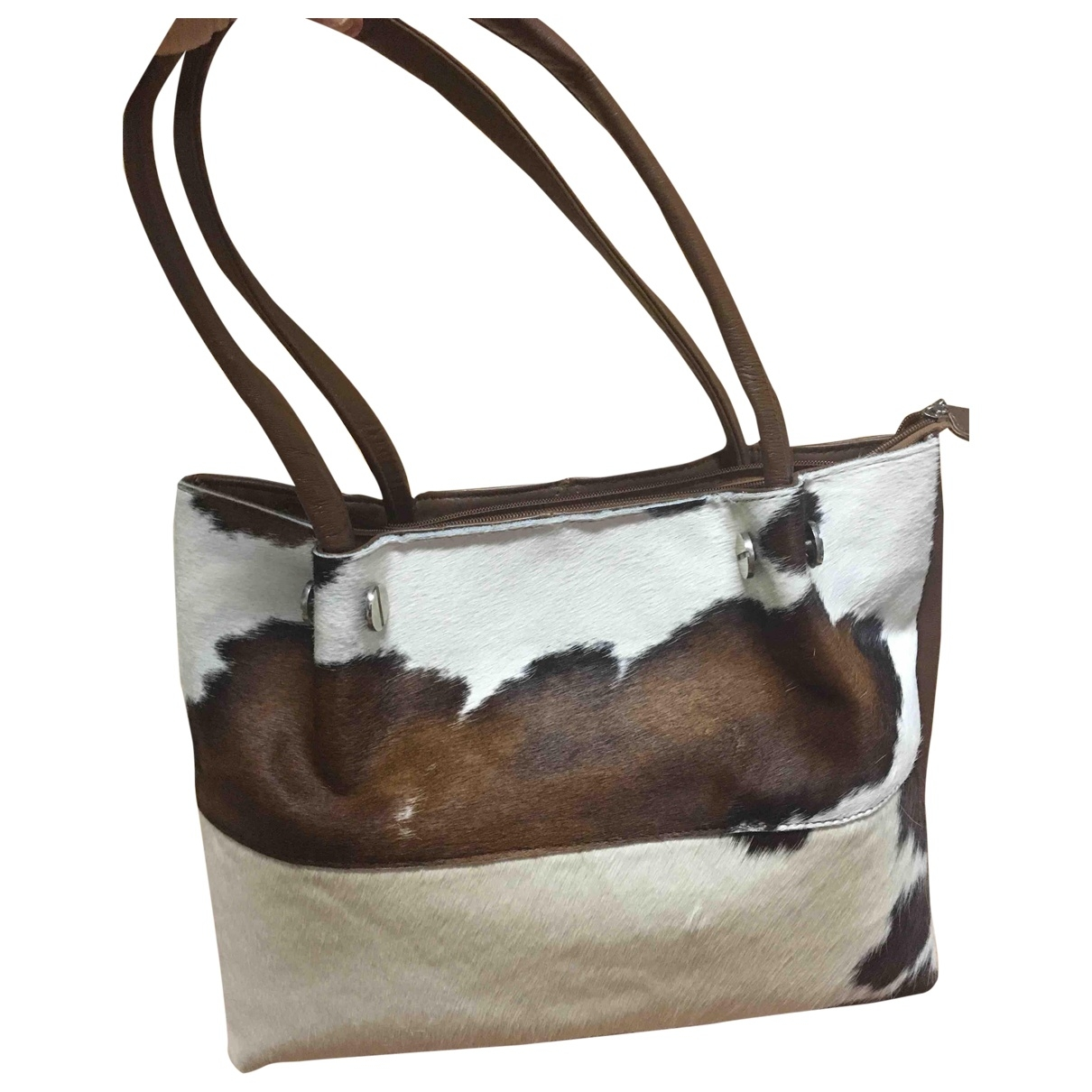 Non Signé / Unsigned \N Multicolour Pony-style calfskin handbag for Women \N