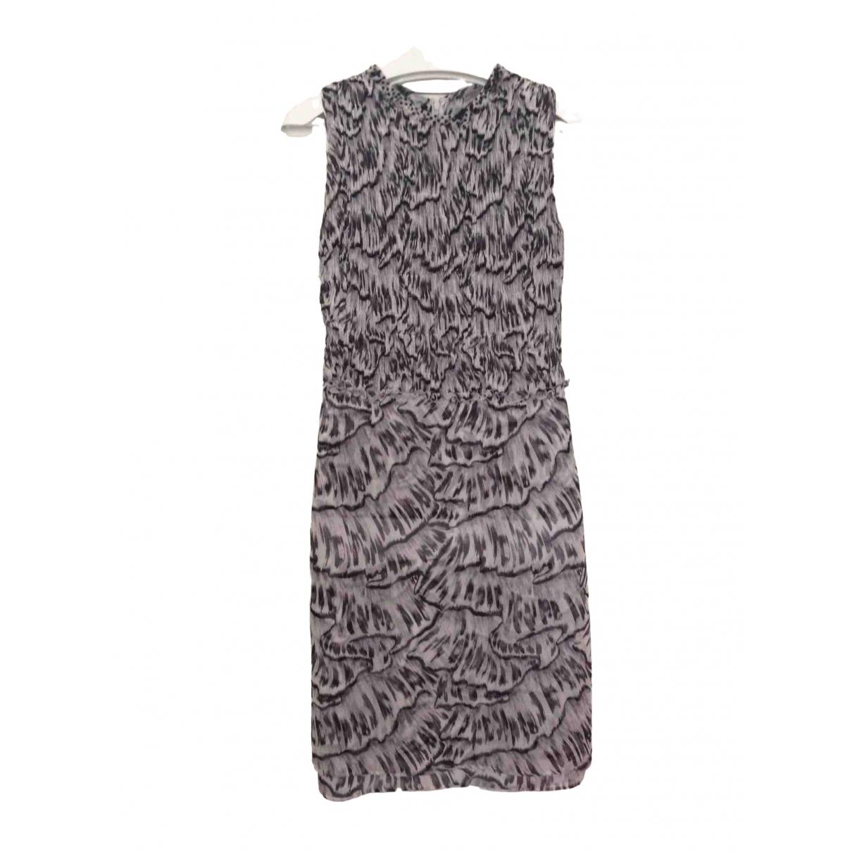 Bottega Veneta \N Grey Silk dress for Women 40 IT